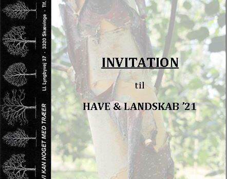 Kom og mød os på Have & Landskab 21!
